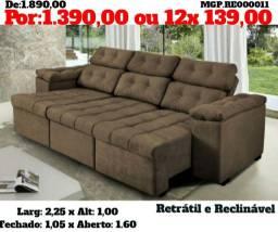 Sofazão com três assentos Retratil e reclinavel - top de linha