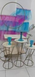 Aluguel Carrinho, mesas e painel