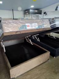 Cama Box baú, novos reforçado base baú, Box baú novos