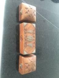 Conjunto Caixinhas madeira trio