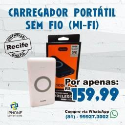 Carregador Portátil Sem Fio (Wi-Fi) (Entrega Grátis)