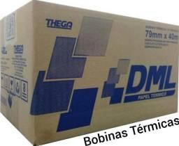 Bobina Térmica para impressoras fiscais e não fiscais: Padrão 80x40