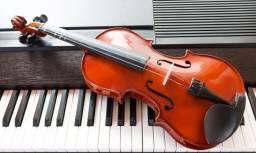 Aulas de piano, violino, canto, inglês e teclado