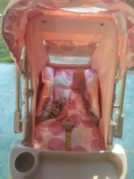 Carrinho De Bebê Milano Reversível e Bebê Conforto Galzerano - Rosa Bebê<br><br>