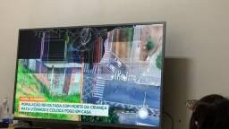 Vendo tv Philips smart 50 polegadas UHD 4K tela quebrada