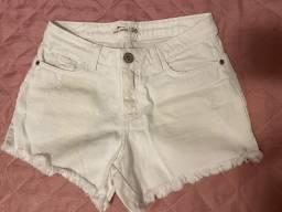 Shorts jeans branco