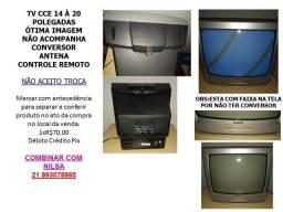 Tv CCE 14 à 20 polegadas ótima conservação pouco tempo de uso parada ótima imagem.