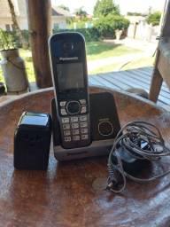 Telefone fixo Panasonic sem fio