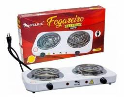Fogão elétrico NOVO, 2 bocas, 2000w, controle de temperatura. Entrega GRÁTIS*