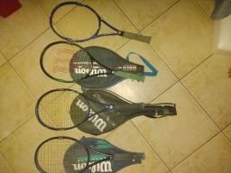 4 raquetes de tênis+3 cases