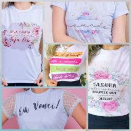 T-shirts femininas Plus Size