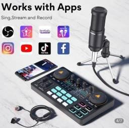 Mixer de mesa + microfone