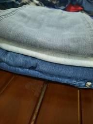 Mala com 4 calça jeans feminino