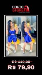 Conjuntinho Fitnis Shorts e Top Azul
