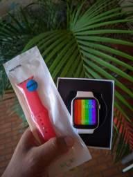 Smartwatch Iwo W26 + pulseira extra Faz e recebe Ligações