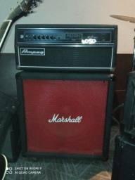 Combo para baixo ampeg svt 350h c cx Marshall mais caixa c 2 falantes