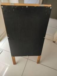 Placa de sinalização em madeira - restaurante, papelaria, padaria