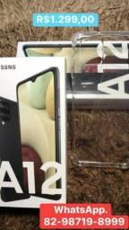 Samsung A12 64gb impressão digital  no Power aceito cartao