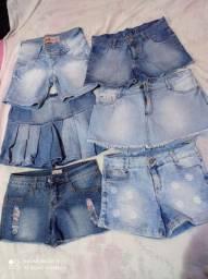 Short  Jeans Tam 14 e 16 Valor R$15,00 cada peça
