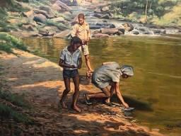 Quadro tela pintura de Edgar Walter 80x60 1973
