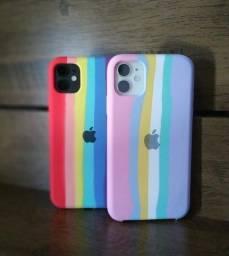 Case (Capinha) Rainbow  Arco Iris iPhone 11 Nova/Lacrada