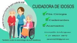 Oferecendo meu trabalho de cuidadora de idoso
