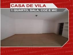 Daher Aluga: Casa de Vila Térrea 1 Qto - Quintino - Cód CDQ 196