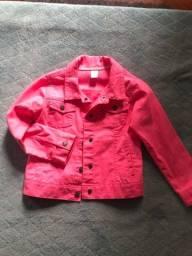 Jaqueta de brim rosa pink