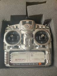 Rádio Jr DSX9 canais 2.4 gh e aeromodelo