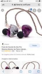 Fone retorno para ouvido + case