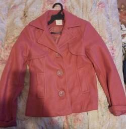 Casaco rosa lã batida ( pouco uso)