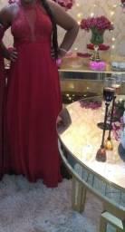 Vestido de festa  cor marsala tamanho GG usei do uma única vez 160