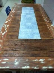 Mesa em madeira maciça peroba rosa