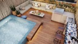 2 suítes com Rooftop e piscina privativa no Cais Eco Residência.