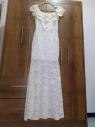 Vestido branco de renda tamanho M, de 210,00 por 95,00