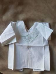 Camisa em cambraia pele de pêssego