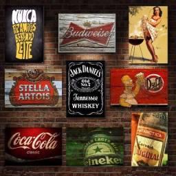 Placas Decorativas - Bar - Aceitamos cartoes/PIX
