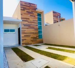JP Casa nova com arquitetura moderna com 2 quartos e 2 banheiros
