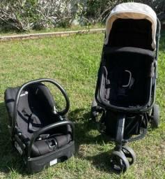 Carrinho de bebê safety first+ moby+ bebê conforto + Capa de chuva