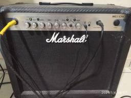 Ampli Marshall MG30 CFX + Foot Controller com Afinador e Tap Tempo