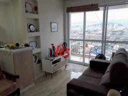 Apartamento com 1 dormitório para alugar, 50 m² - Vila Matias - Santos/SP