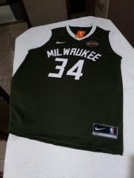 Camisa de basquete do Milwaukee Bucks M