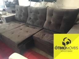 Sofá retrátil e reclinável 2.90 3 lugares espuma soft R$:2.999,00