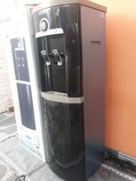 Bebedouro Esmaltec de Coluna Inox Preto Novo Zerado na Caixa