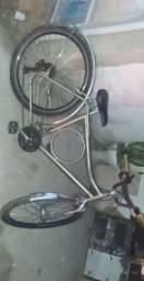 Bicicleta quadro monark rebachada com macha completa