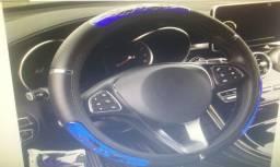 Capa para volante cor preta com prata
