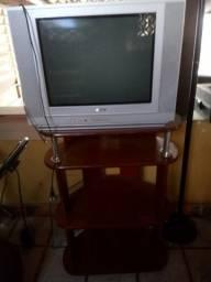 Tv 20 polegas mais rack