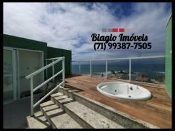Atlântico Porto - Pituba - Cobertura - 1 quarto - 98m² - Vista mar - Ventilado - jacuzzi