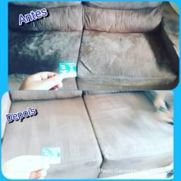 Limpeza e higienização em sofás,tapetes,poltronas etc