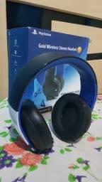 Gold Wireless Headset Ps4 da Sony